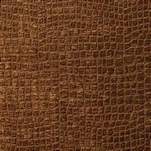 brown alligator print shiny woven velvet upholstery fabric