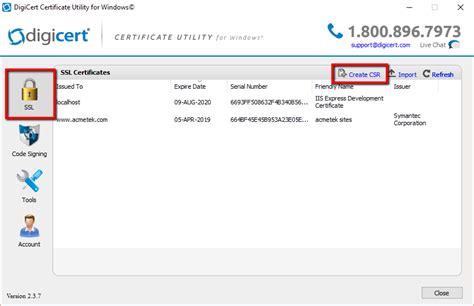 digicert ssl certificate csr creation microsoft exchange digicert certificate utility ssl certificate guide