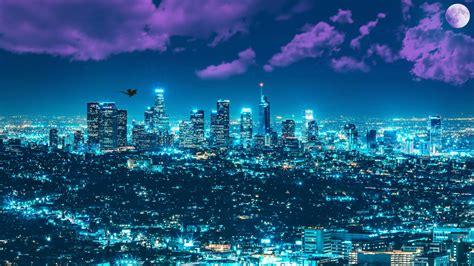 los angeles city lights 5k ultrahd wallpaper wallpaper