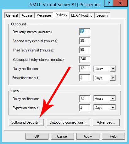 smtp aruba porta configurare office smtp con un connettore per l