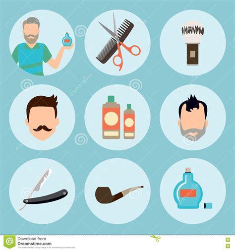 design elements icon set of vintage barber shop elements logo labels badges