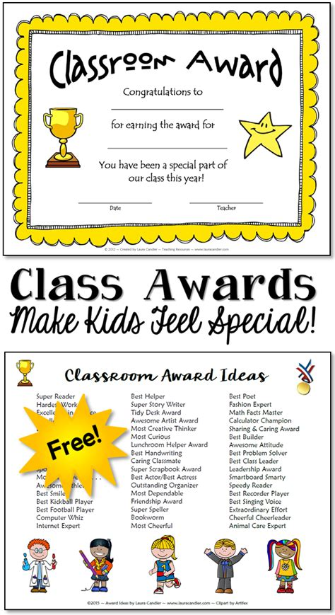 Classroom Awards Make Kids Feel Special Certificate Show Templates For The Classroom