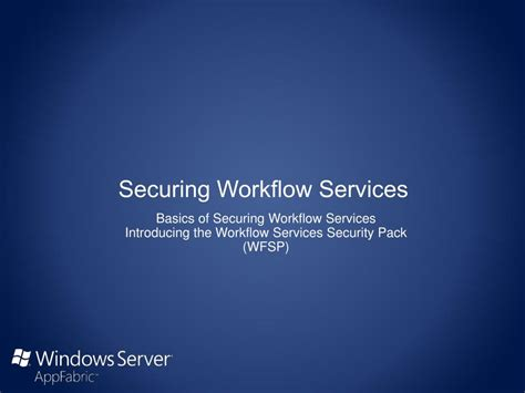 workflow services ppt securing workflow services powerpoint presentation