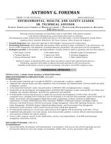 Environmental Health Specialist Sle Resume by Safety Officer Resume Pdf Ebook Database