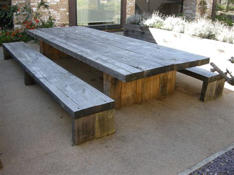 garden  patio large  long diy rustic solid wood