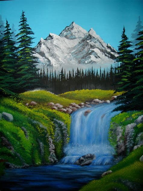 bob ross painting poster items similar to original acrylic painting bob ross