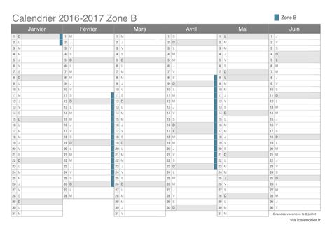 I Calendrier Scolaire Calendrier Scolaire Zone A 2016 Et 2016 A Imprimer Clrdrs