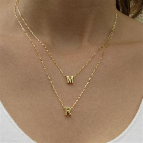 Letter Jewelry Aliexpress Buy Custom Interchangeable Initial Letter Necklace Multi Layers Necklace Gold