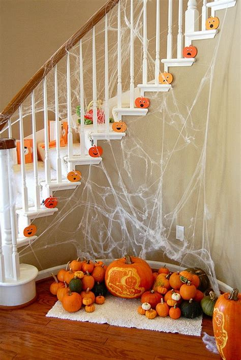 home made fall decorations 50 unique fall staircase decor ideas family holiday net guide to family holidays on the internet