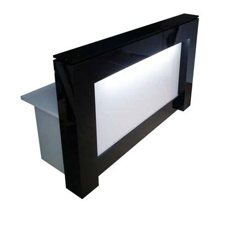 black and white desks black and white reception desk or counter with light