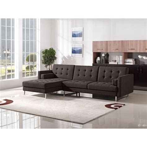tufted sofa with chaise modern tufted sectional sofa with chaise metropolis design