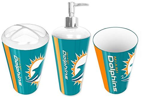 Miami Dolphins Bathroom Accessories Miami Dolphins Nfl Football 3pc Bathroom Accessory Set Arts Entertainment Hobbies Creative Arts
