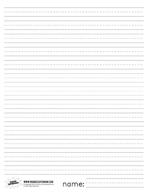 printable writing paper with space for picture printable primary lined paper paging supermom favorite