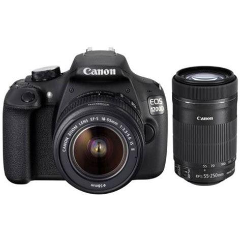 Kamera Canon Dslr 1200d Kit buy canon eos 1200d dual kit ef s18 55 is ii ef s55 250 is ii black at best price