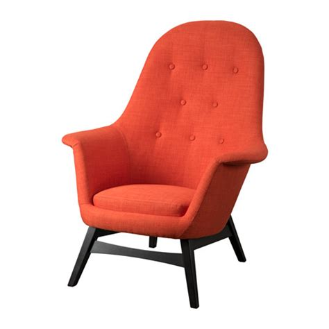 orange armchairs benarp armchair skiftebo orange ikea