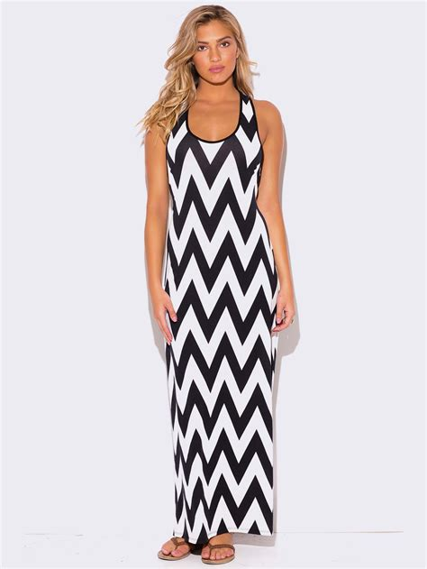 plus size chevron print racer back maxi dress modish - Chevron E Gift Card