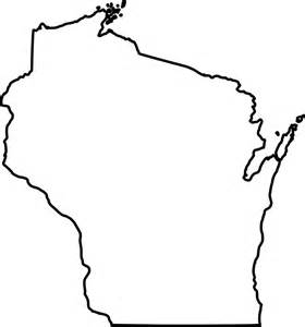 map shape free vector graphic wisconsin state map outline free