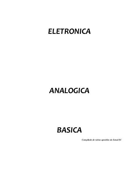 APOSTILA DE ELETRONICA ANALOGICA SENAI PDF