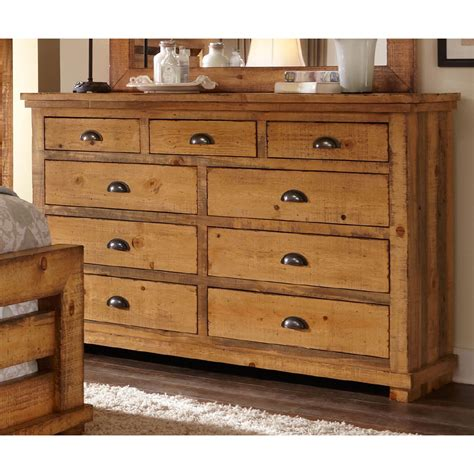 Willow Distressed Pine Dresser Progressive Furniture Chest Bedroom Dressers