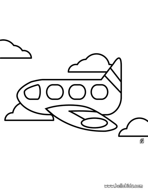 airplane coloring pages for preschool coloring pages for preschoolers plane 16915