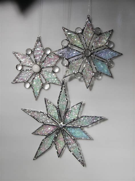 items similar to stained glass snowflake snowflake