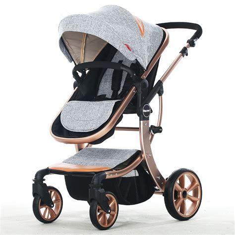 luxury baby stroller 2 in 1 brands high landscape baby carriage for newborn infant sit lie