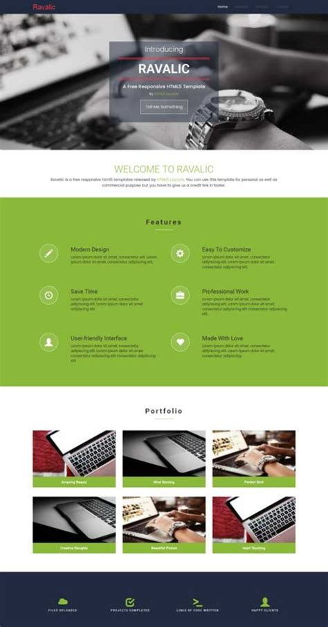html5 profile template 50 free responsive css3 html5 website templates