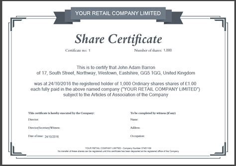 dividend certificate template dividend certificate template image collections