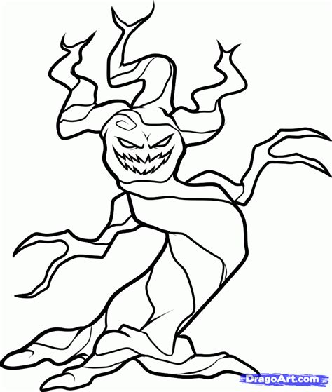 haunted tree coloring page how to draw a haunted tree halloween tree step by step