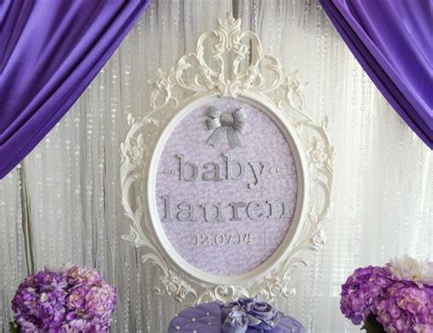 """Baby Shower """"Purple & Silver Baby Shower""""   Catch My Party"""