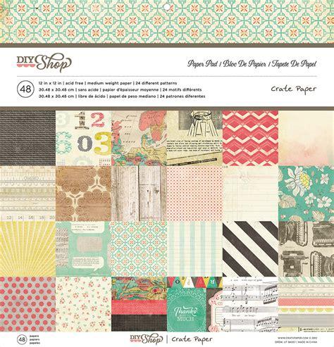 American Paper Crafts - american crafts crate paper diy shop 12 x 12 paper pad