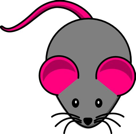 Mouse Clipart by Pink Gray Mouse Clip At Clker Vector Clip