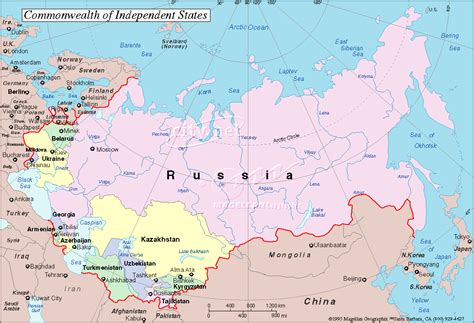 russia on map map of russia