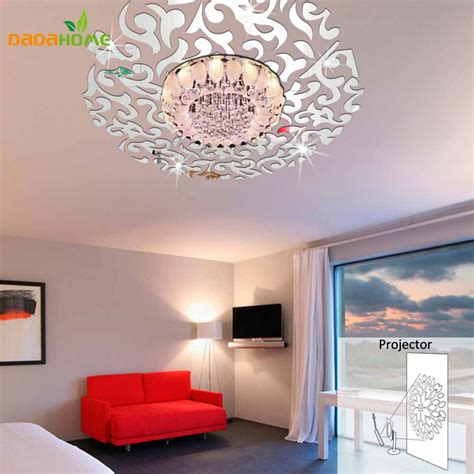 home interiors mirrors dayri me creative 3d home decor mirror wall stickers living room