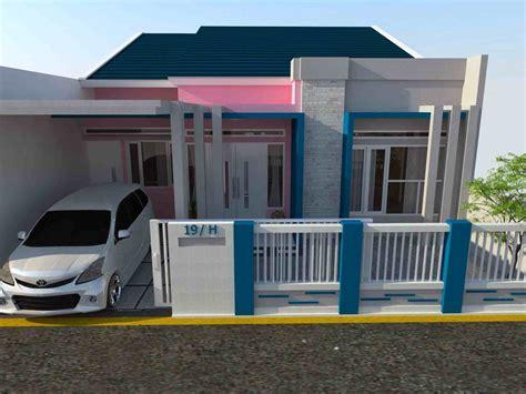 pilihan terbaik warna cat pagar rumah taman tropis desain gambar foto tipe rumah minimalis