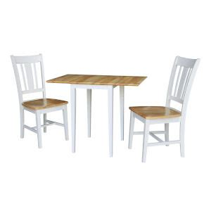 winsome wood mercer double drop leaf table   stools