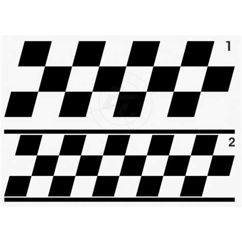 Racing Stripes Aufkleber by Sticker Racing Stripes Taxi With Oblique Diamonds