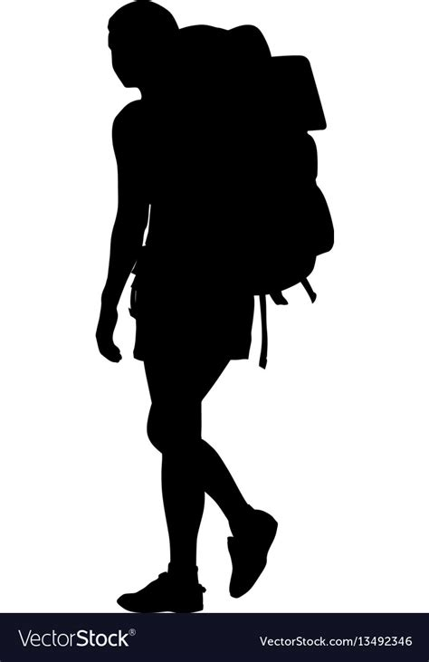 Eagle Sepatu Scout backpacker silhouette royalty free vector image