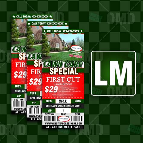 Home Market Type 1 Promo lawn care ticket style promo 1 the lawn market