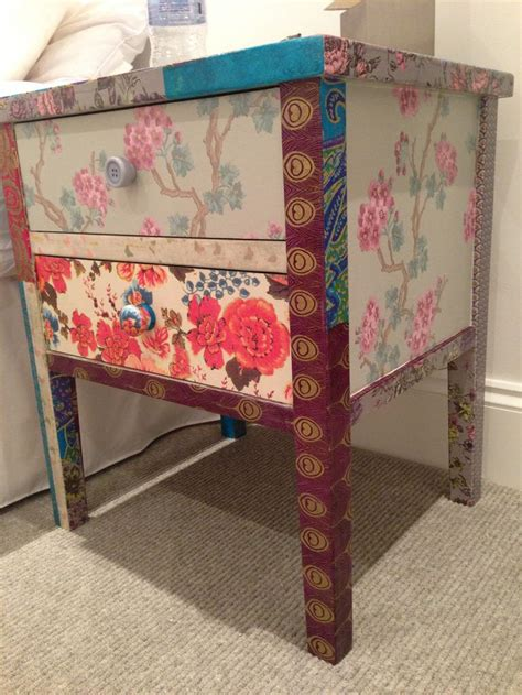 decoupage bedside table 8 best neon repatch berjer patchwork images on