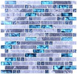 blue glass mosaic tile mixed grey mosaic for kitchen