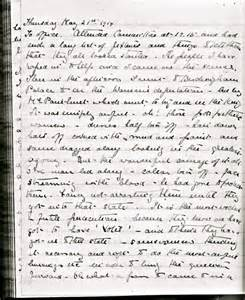 Great Depression Journal Entry Essays by Kate S Diary Entry For 21 May 1914 In Which She Records Witnessing The Wspu Demonstration In