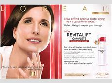 Andie MacDowell Actress - Celebrity Endorsements ... L'oreal Revitalift Products