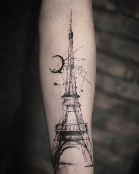 eiffel tower tattoo on hand 79 fashionable and intriguing sketch tattoo ideas for your
