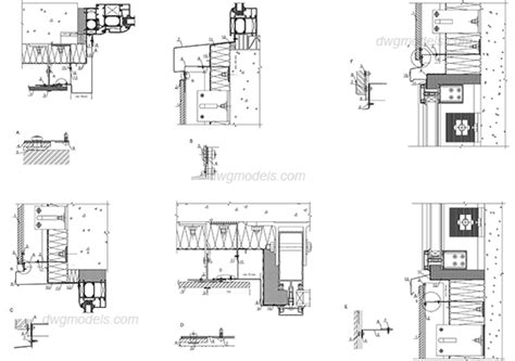window section detail dwg windows details dwg free cad blocks download