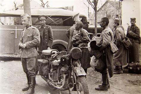 film dokumenter ww2 nazi jerman foto sepeda motor puch