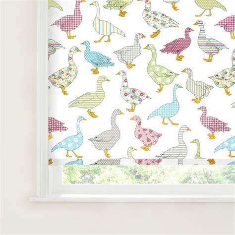 pattern for roller blind nerine geese pattern roller blind