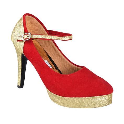 Sepatu Wanita High Heels Gliter Emas Lj 05 jual daily deals flower sn 140 high heels sepatu wanita merah harga kualitas