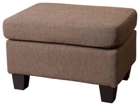 Brown Fabric Ottoman Christabel Fabric Ottoman Footstool Brown Contemporary Ottomans And Cubes By Great Deal