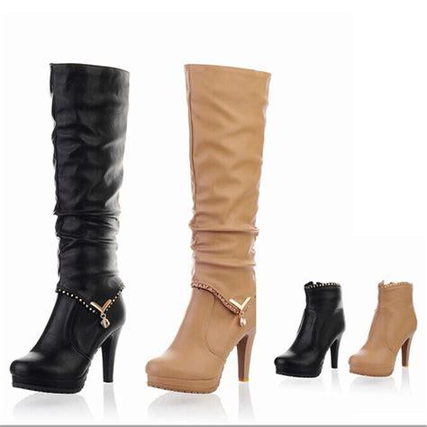 high heels boots autumn winter fashion knee